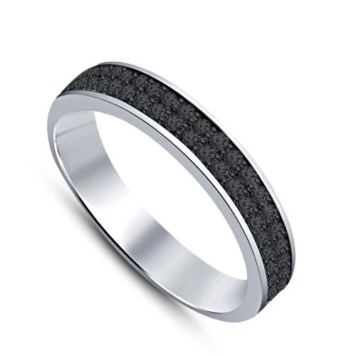 Pierścionek z czarnymi diamentami